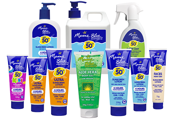 Marine Blue Sunscreens